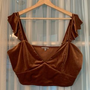 Bralette with frilly straps